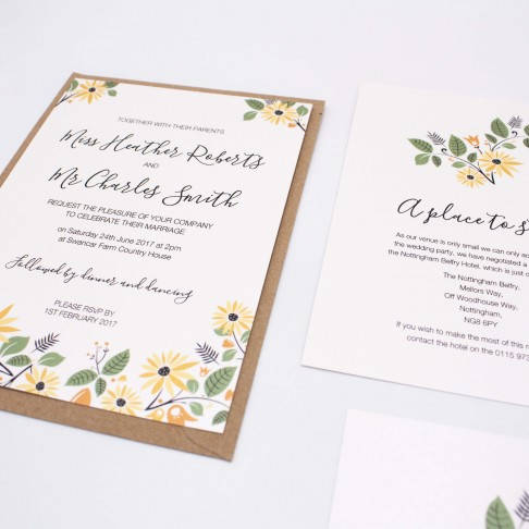 Ellie-and-liv-bespoke-wedding-stationery-bespoke-Sunflower-bundle