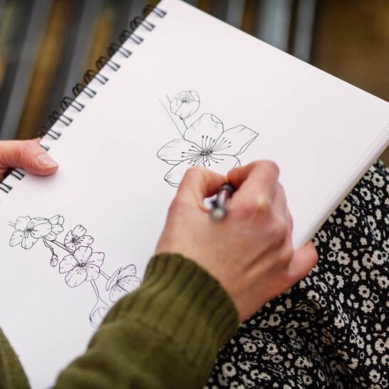 Ellie-and-Liv-Nottingham-wedding-stationery-sketches