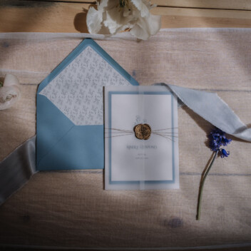 Ellie and Liv Minimal Wedding Invitation Yurt Wedding
